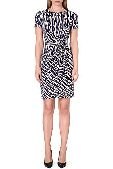 DIANE VON FURSTENBERG Zoe tie-detail silk dress
