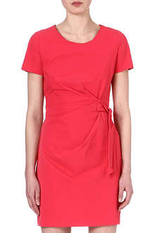 DIANE VON FURSTENBERG Ruched stretch-crepe dress