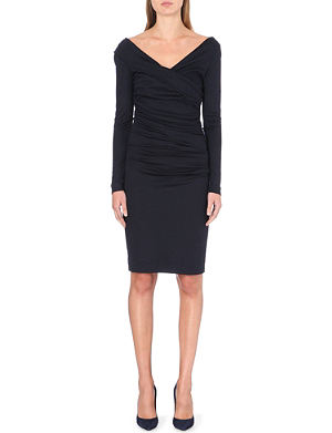 DIANE VON FURSTENBERG Bentley gathered wool dress