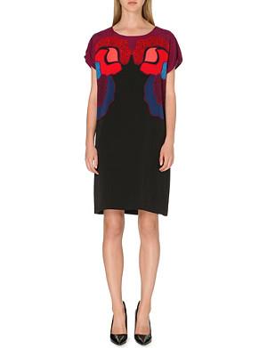 DIANE VON FURSTENBERG Harriet stretch-crepe rose-print dress