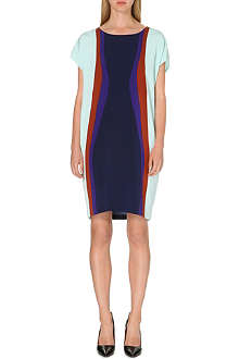 DIANE VON FURSTENBERG Harriet colour-blocked dress