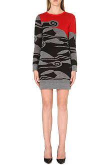 DIANE VON FURSTENBERG Knitted graphic dress