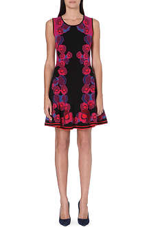 DIANE VON FURSTENBERG Rose print knitted dress
