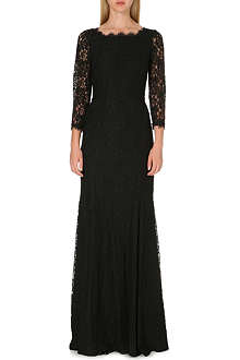 DIANE VON FURSTENBERG Floral lace long gown
