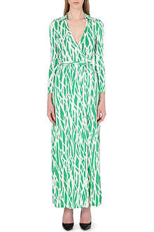DIANE VON FURSTENBERG Printed silk maxi wrap dress