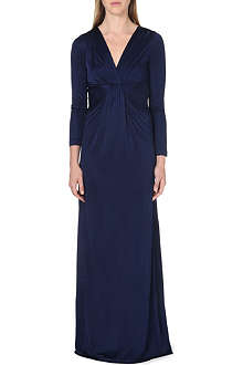 DIANE VON FURSTENBERG Fitted long-sleeve gown