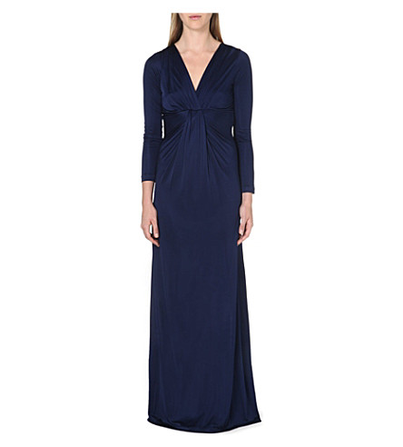 DIANE VON FURSTENBERG Fitted long-sleeve gown (Ink