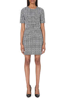 DIANE VON FURSTENBERG Geometric-print stretch-crepe shift dress