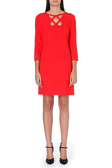 DIANE VON FURSTENBERG Cut-out stretch-crepe dress