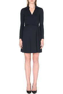 DIANE VON FURSTENBERG Long-sleeved collar wrap dress
