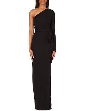 DIANE VON FURSTENBERG Coco one shoulder maxi jersey dress