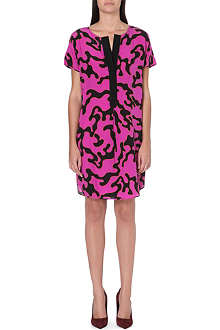 DIANE VON FURSTENBERG Swirl print silk shift dress