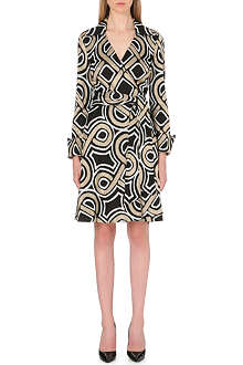 DIANE VON FURSTENBERG Bruna metallic wrap dress