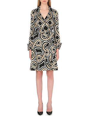 DIANE VON FURSTENBERG Bruna metallic wrap dress