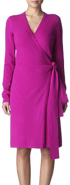 DIANE VON FURSTENBERG Linda knitted wrap dress