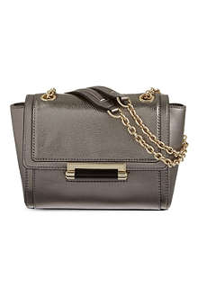 DIANE VON FURSTENBERG 440 mini metallic leather shoulder bag