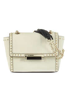 DIANE VON FURSTENBERG 440 Mini studded leather shoulder bag