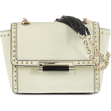DIANE VON FURSTENBERG 440 Mini studded leather shoulder bag (Parchment