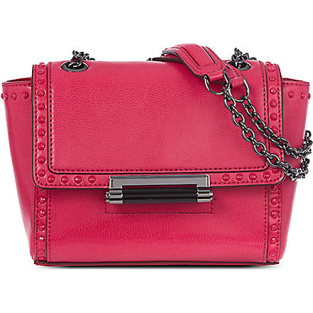 DIANE VON FURSTENBERG 440 Mini studded leather shoulder bag (Raspberry