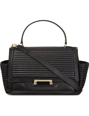 DIANE VON FURSTENBERG Quilted courier rail bag