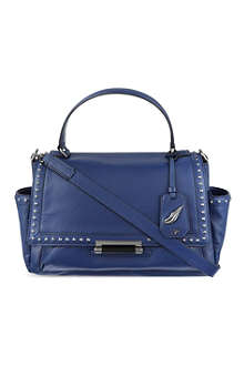 DIANE VON FURSTENBERG Studded leather courier bag