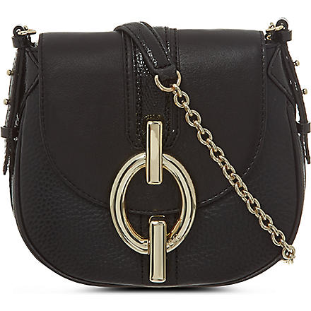 DIANE VON FURSTENBERG Sutra leather cross-body bag (Black
