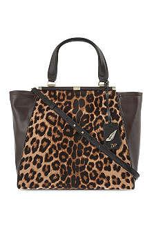 DIANE VON FURSTENBERG Leopard leather tote