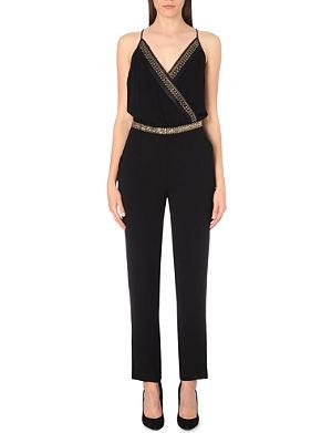 DIANE VON FURSTENBERG Caroline embellished crepe jumpsuit