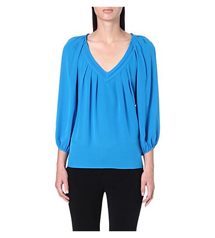 DIANE VON FURSTENBERG Cahil silk blouse (Topaz