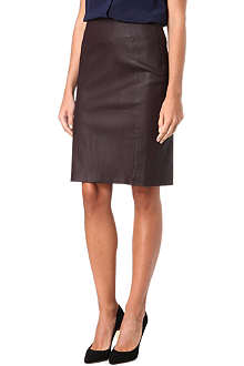DIANE VON FURSTENBERG Leather pencil skirt