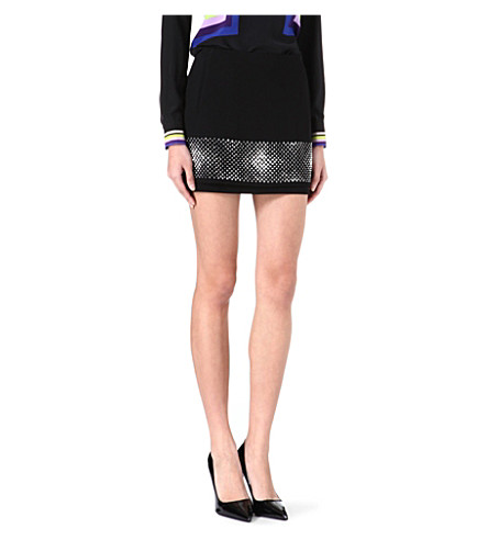 DIANE VON FURSTENBERG Elley studded mini skirt (Black