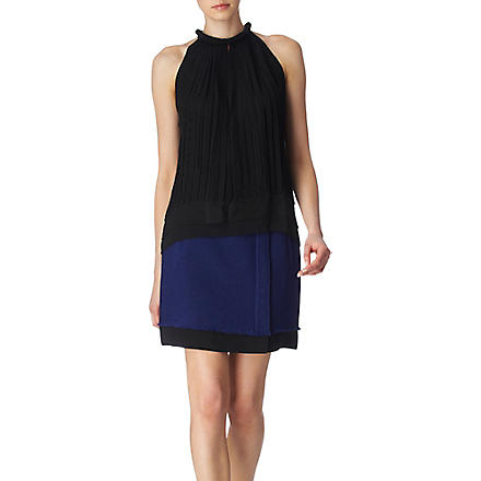DIANE VON FURSTENBERG Daga pleated top (Black