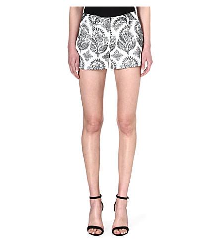 DIANE VON FURSTENBERG Naples floral shorts (Black