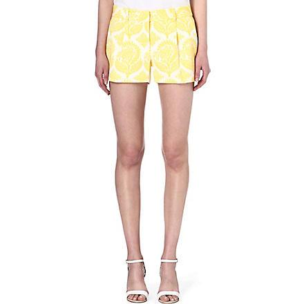 DIANE VON FURSTENBERG Naples floral-printed shorts (Yellow
