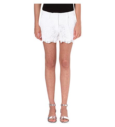 DIANE VON FURSTENBERG Lace shorts (White