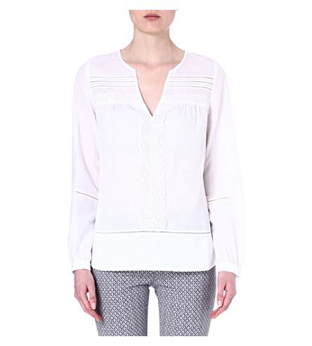 DIANE VON FURSTENBERG Cotton lace blouse (White