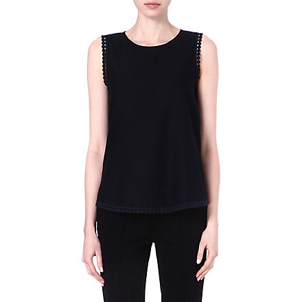 DIANE VON FURSTENBERG Jessa sleeveless top (Black