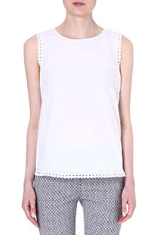 DIANE VON FURSTENBERG White sleeveless Jessa top