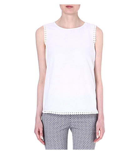 DIANE VON FURSTENBERG White sleeveless Jessa top (White