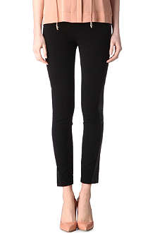 DIANE VON FURSTENBERG Bel leather-trim trousers
