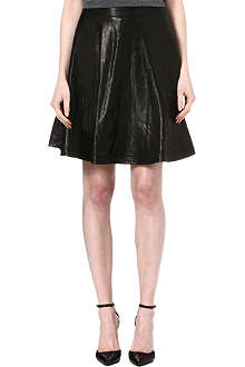DIANE VON FURSTENBERG Riley flared leather skirt