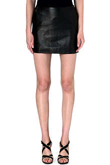 DIANE VON FURSTENBERG Jay leather-panelled skirt