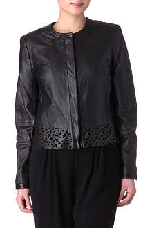 DIANE VON FURSTENBERG Merryl laser-cut leather jacket