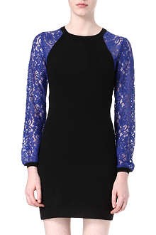 DIANE VON FURSTENBERG Isla lace-sleeve knitted dress