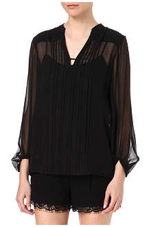 DIANE VON FURSTENBERG Tanyana pleated silk top