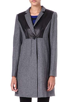 DIANE VON FURSTENBERG Iris leather-panel coat