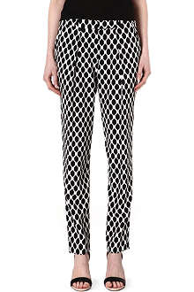 DIANE VON FURSTENBERG Dani diamond silk trousers