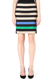 DIANE VON FURSTENBERG Mae Mikado striped pencil skirt