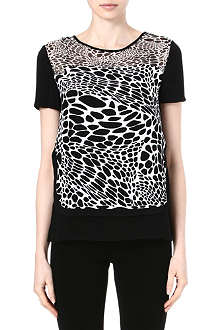 DIANE VON FURSTENBERG Becky animal-print silk top