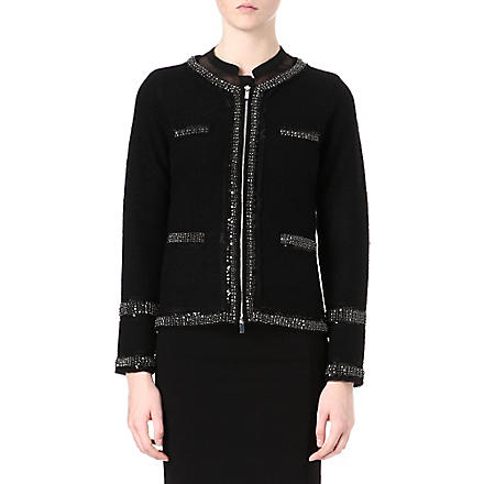 DIANE VON FURSTENBERG Aspen tweed jacket (Black